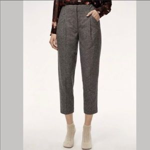 aritzia wilfred wool cropped pants  size 4 C5